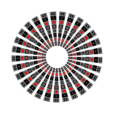 Abstract geometric rotation pattern. Circle design. Vector art. Illustration