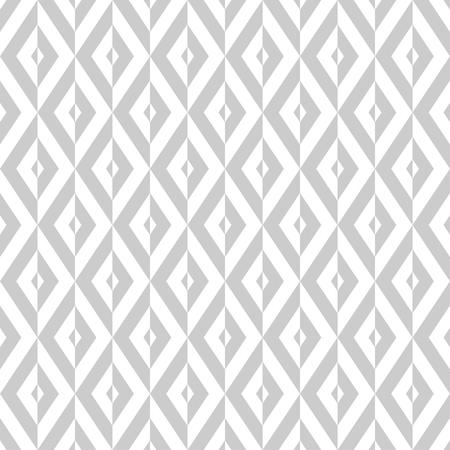 Seamless diamonds pattern. White and light gray geometric texture. Vector art. 일러스트