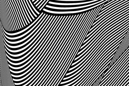 Abstract op art pattern. Lines texture. Vector illustration. Illustration