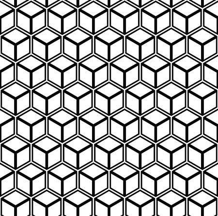 Seamless geometric hexagons pattern. 3D illusion. Vector art. Vectores