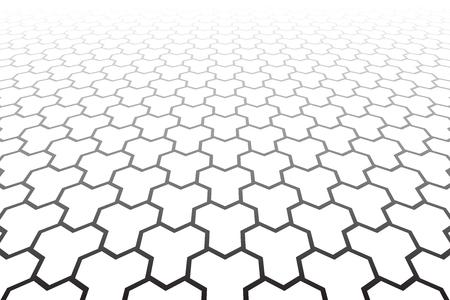 Geometric polygonal pattern. Diminishing perspective view. Vector art. Ilustrace