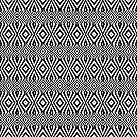 Seamless decorative ornamental pattern. Vector art.