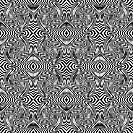 Seamless op art pattern. Lines texture. Vector art. 일러스트