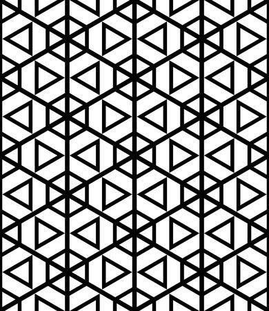 Naadloos zeshoeken en driehoekenpatroon. Geometrische textuur. Vector kunst. Vector Illustratie