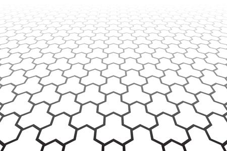 Geometric polygonal pattern. Diminishing perspective view.