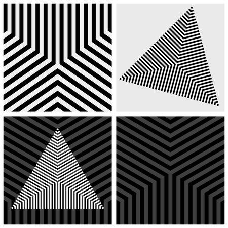 Geometric elements set. Striped texture. Vector art. Vector Illustration