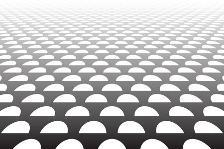 Half circles pattern. Diminishing perspective view. Abstract textured background. Vector art. Banque d'images - 111905412
