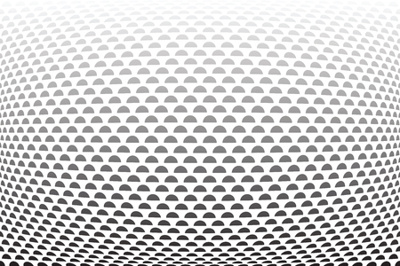 Convex half circles pattern.Abstract textured background. Vector art.