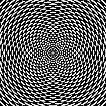 Geometric rotation pattern. Abstract decorative graphic design. Vector art. Ilustração