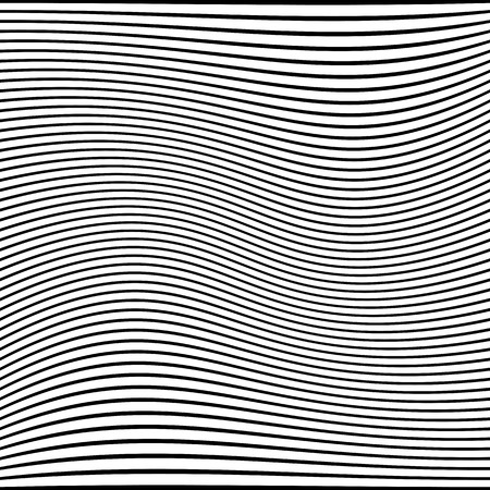 Abstract wavy lines texture. Striped background. Vector art.