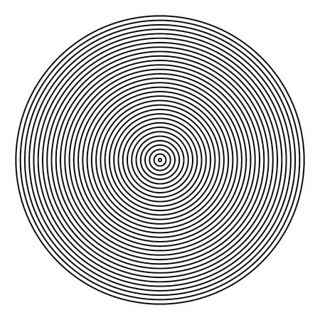 Motif de cercle géométrique abstrait. Texture de lignes. Art vectoriel.