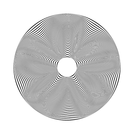 Abstract circle design element. Lines texture. Vector art. Illustration