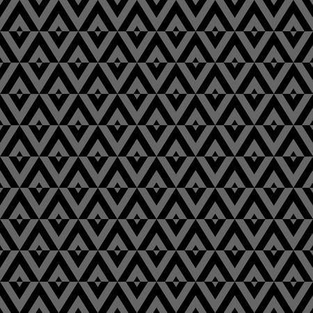 Seamless diamonds pattern. Black and gray geometric texture. Vector art.