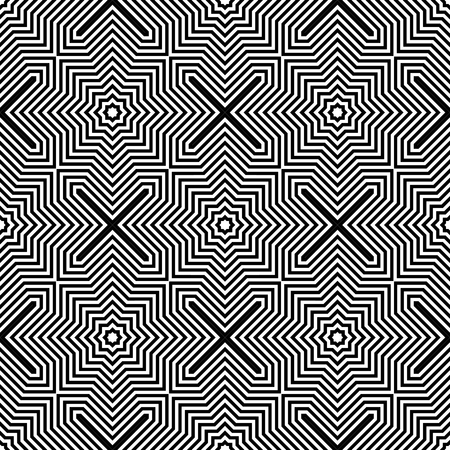 Seamless geometric checked pattern. Lines texture. Vector art.