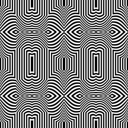 Seamless op art pattern. Striped lines teture. Vector illustration. 일러스트