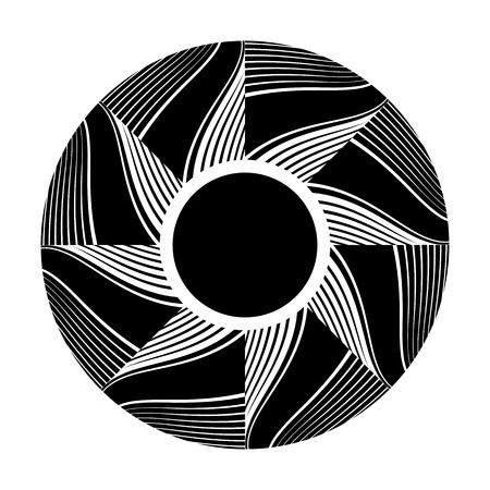Circle design element. Rotation pattern. Vector art. 矢量图像