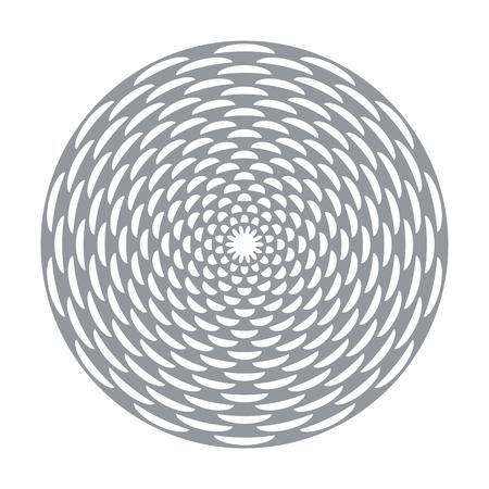 Circle rotation decorative design element. Vector art. Illustration