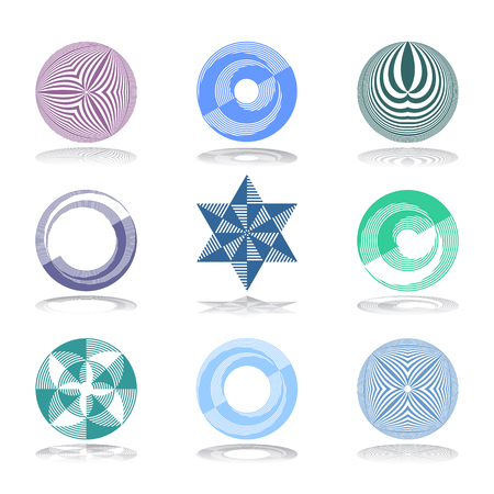 Design elements set. Abstract geometric icons. Vector art.