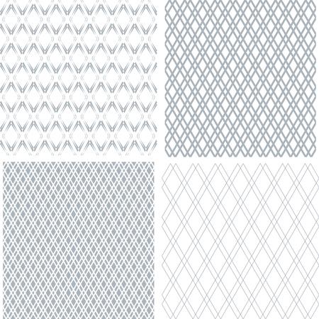 Set of seamless diamonds patterns. Geometric textures. Vector art. Vecteurs