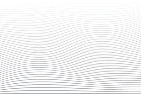 White striped background. Absttact wavy lines texture. Vector art. Illustration