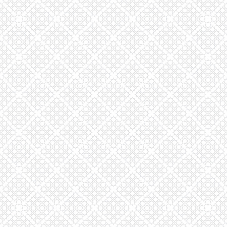 Seamless diagonal checked pattern. White geometric background and texture. Vector art. Vetores