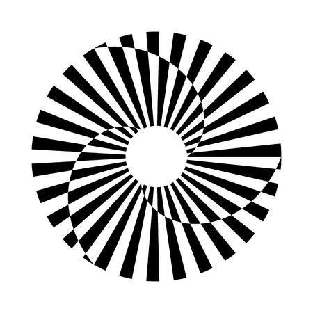Circle rotation design element. Abstract design. Vector art. Illustration