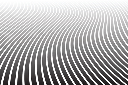 Abstract wavy lines design. Diminishing perspective view. Vector art.