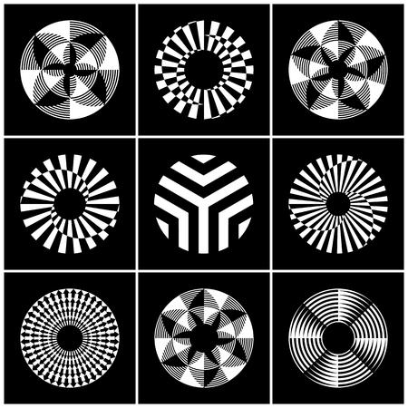 Design elements set. Abstract circle icons. Vector art.