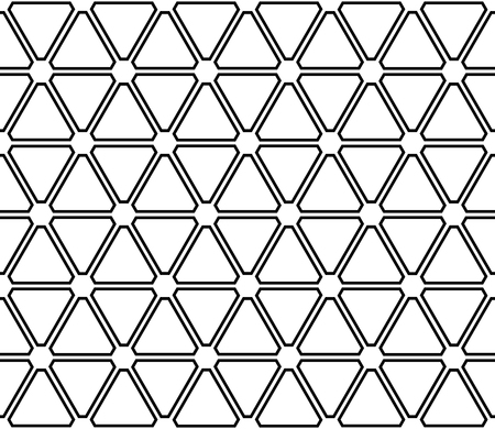 Seamless triangles and hexagons pattern. Geometric texture. Vector art.