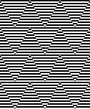 Seamless zigzag pattern. Geometric op art design. Striped lines texture. Illustration