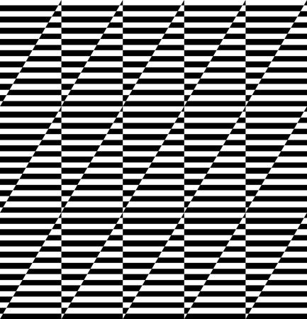 Seamless geometric pattern. Op art design. Striped lines texture.