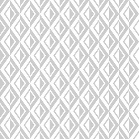 Seamless diamonds pattern. White and light gray geometric texture. Vector art. Illustration