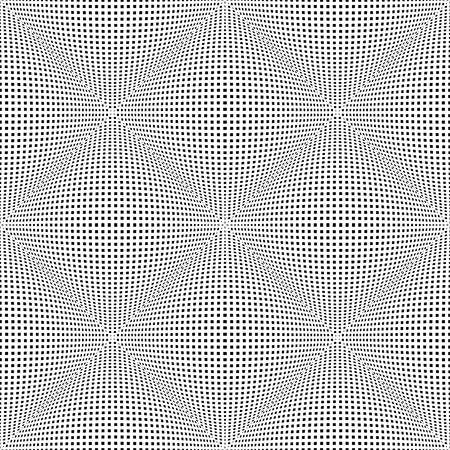 Seamless checked 3D pattern. Convex texture. Vector art.