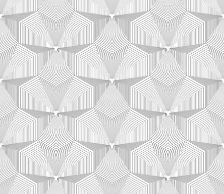 Seamless op art pattern. Geometric lines texture. Vector art.