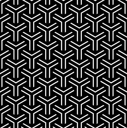 Seamless geometric pattern. Black textured background. Vector art. 일러스트