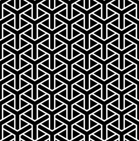Seamless hexagons pattern. Geometric texture. Vector art.