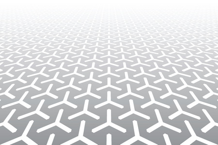 Diminishing perspective. Abstract geometric pattern and background. Vector art.