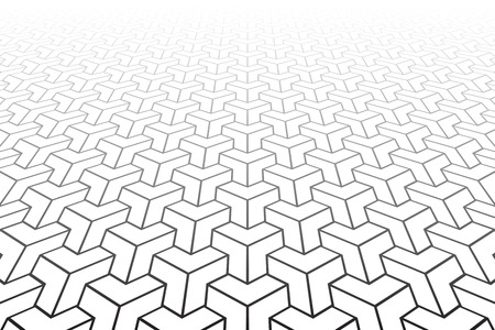 Abstract geometric pattern. Diminishing perspective. Vector art. Illustration