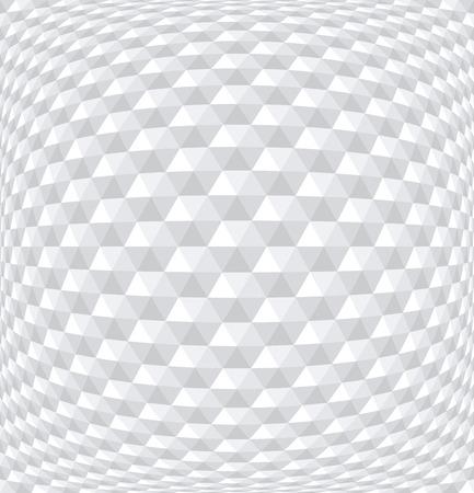 Seamless convex hexagons pattern. White 3D geometric background.