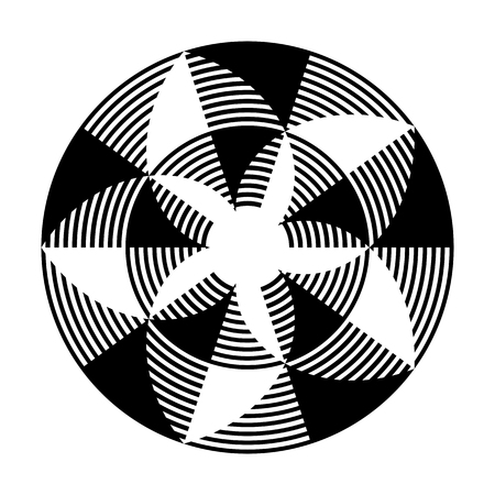 Pattern in circle shape. Abstract design element. Vector art.
