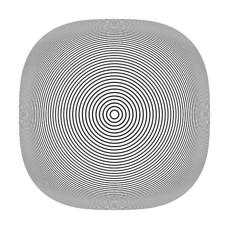 Abstract geometric 3D shape. Circle lines texture. Vector art.