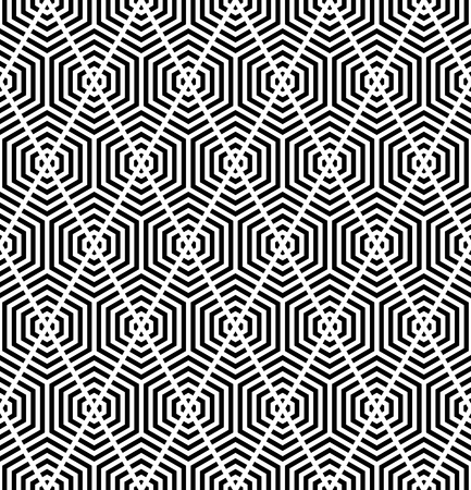 Seamless geometric diamonds pattern. Striped lines texture. Vector art.