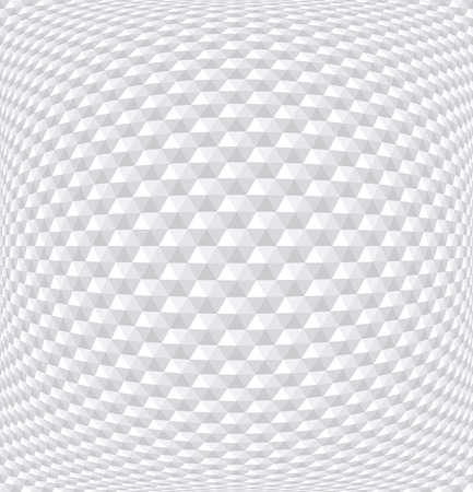 Convex hexagons pattern. White geometric background. 3D effect. Vector art.
