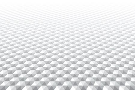 Hexagons pattern. Diminishing perspective. White geometric background. Vector art. Foto de archivo - 112728212
