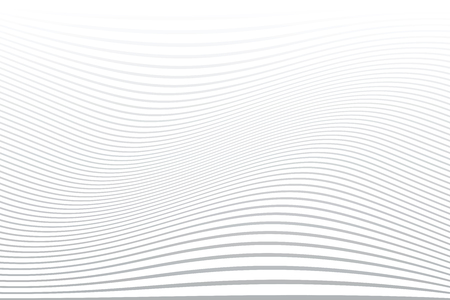 White wavy lines background. Abstract striped texture. Vector art.