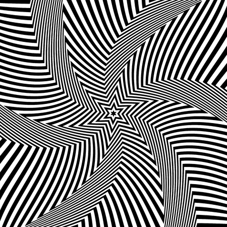 Abstract op art design. Illusion of rotation movement. Vector illustration. Illustration