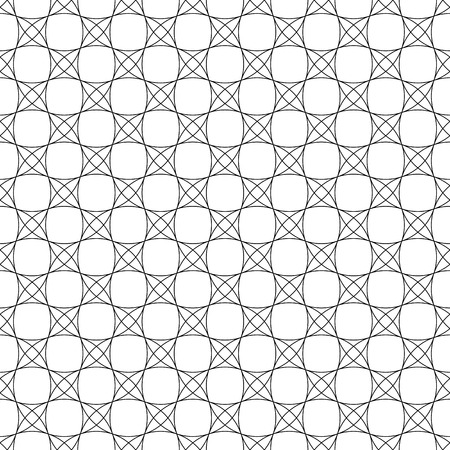 Seamless circles pattern. White geometric texture and background. Vector art.