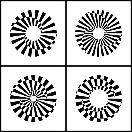 Design elements set. Abstract rotation circle icons. Vector art. 免版税图像 - 112728272