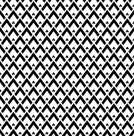 Seamless black and white geometric pattern. Vector art.