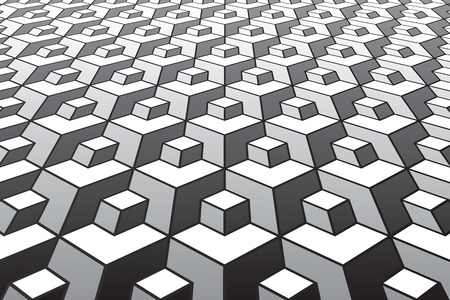 Abstract geometric pattern. Diminishing perspective view. Vector art.